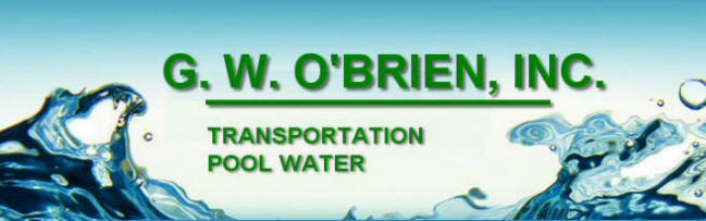 GW O'Brien Pool Water Waste Trucking Transportation Logo